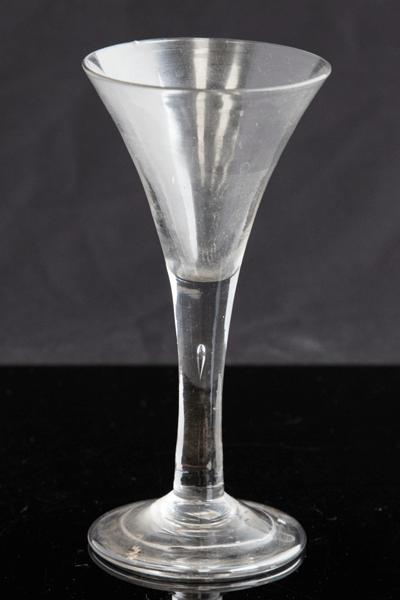 An 18th century wine glass, circa 1745 £120