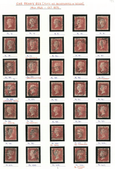 Great Britain. 1864 to 1879 1d Red, used. £250f