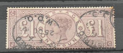 Great Britain. 1888 £1 Brown-lilac J-C. £200