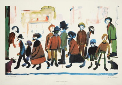 L S Lowry People Standing About