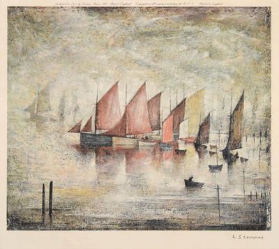 L S Lowry Sailing Boats