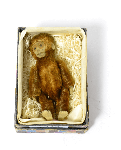 Schuco Monkey Compact brown, with removable head and opening to reveal compact with mirror 3.5, 9cm high £160
