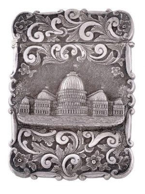 The Subjects Found on Silver Castle Top Card Cases & Vinaigrettes