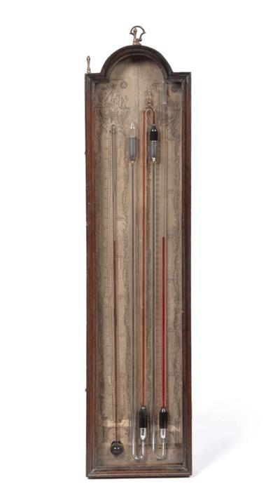 A Rare George III Multiple Tube Barometer, signed Baptista Ronchetti