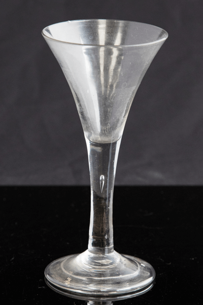 An 18th century wine glass, circa 1745 £120