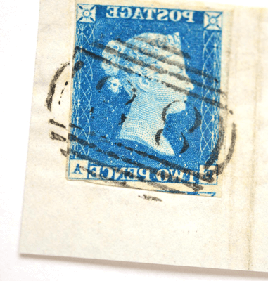 Great Britain. 1840 2d Blue E-A. Three margins £220