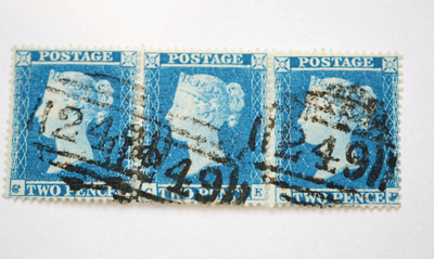 Great Britain. 1841 2d Blue, horizontal strip of twelve AAAL, Plate 3. Lower and right margins huge, £1000