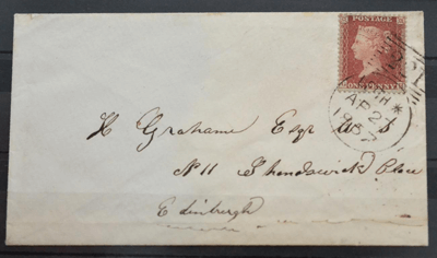 Great Britain. 1857 Cover to Edinburgh £280