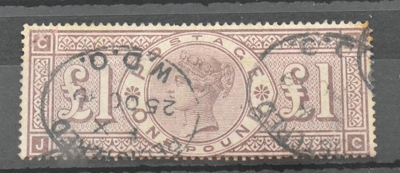Great Britain. 1888 £1 Brown-lilac J-C. £200