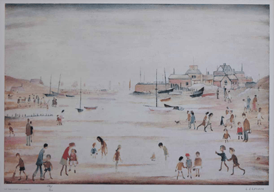 L S Lowry On The Sands