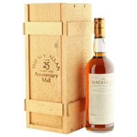 Macallan 25 Year Old Anniversary Malt 1961