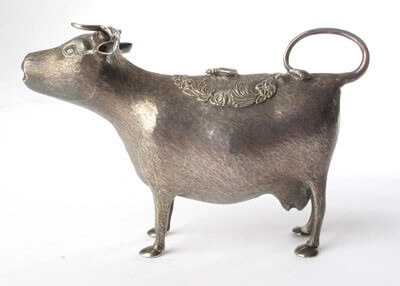 A George III Silver Cow Creamer by John Schuppe, London 1767 (3)