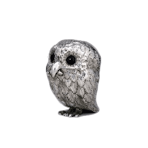 A novetly mustard pot in the form on an owl by Charles