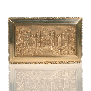Castle Top Silver Snuff Box
