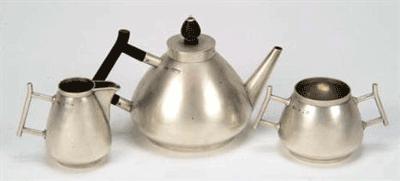 A tea service designed by Christopher Dresser for Elkington