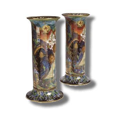 Fairyland Lustre Valuation Torches Vase
