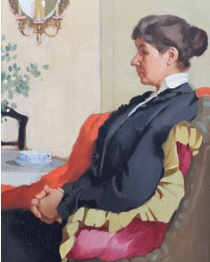 Pierre Adolphe Valette 1876 1942 Portrait of a seated lady signed and dated 1921 oil on board £3500