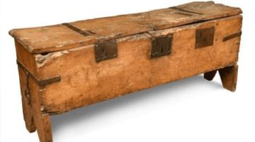 A-15th-century-elm-and-iron-bound-boarded-chest-£3200