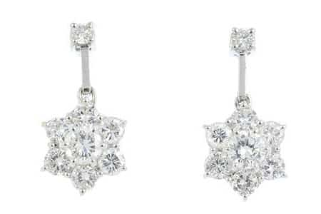 A-pair-of-diamond-floral-cluster-earrings-£1400