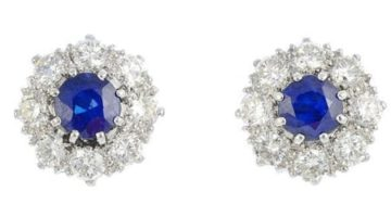 A-pair-of-sapphire-and-diamond-cluster-earrings-£1600