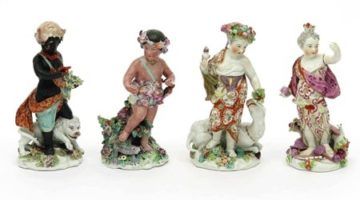 A-rare-set-of-Derby-figures-from-the-Four-Quarters-of-the-Globe-series-c.1760-£6500