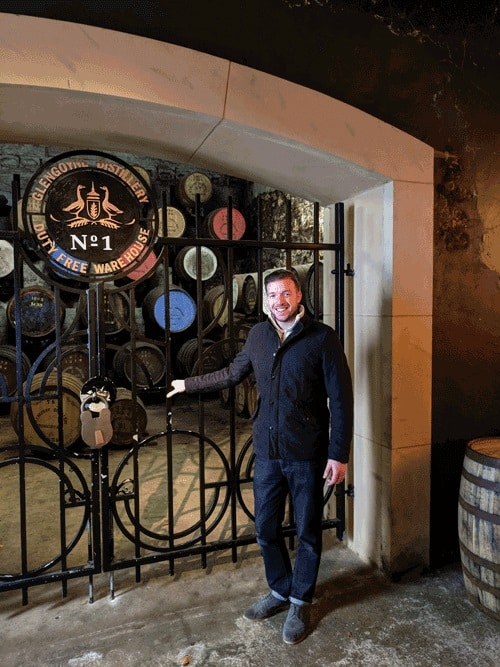Mark Littler at the Glengoyne N0.1 Warehouse