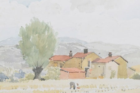 Pierre-Adolphe-Valette-1876-1942-Au-Chambon-uns-Brailles-signed-titled-on-verso-watercolour-and-pencil-£1300