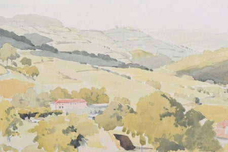 Pierre-Adolphe-Valette-1876-1942-French-rural-scene-signed-watercolour-and-pencil-£1100