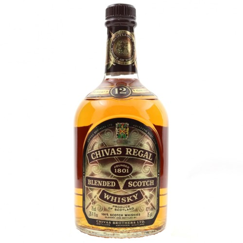 A bottle of Chivas Regal 12 Year old, worth less than £30