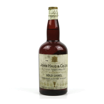 A 1930s bottle of Haig Gold Label, worth less than £150