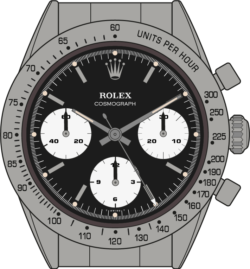 Rolex Cosmograph 6239 edition 1 Daytona Illustration