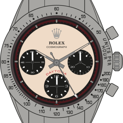 Rolex Cosmograph 6239 Paul Newman dial illustration