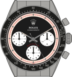 Rolex Cosmograph 6241 Daytona Illustration
