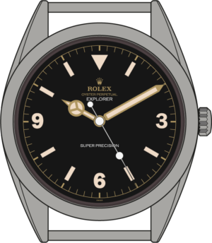 Rolex Explorer 5504 illustration