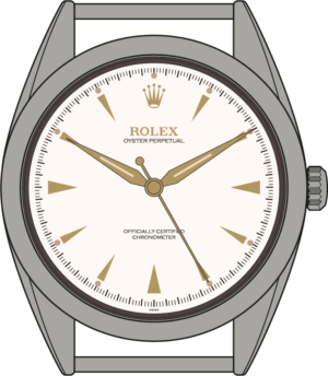 Rolex Explorer 6098 illustration