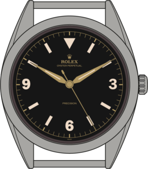 Rolex Explorer 6298 illustration