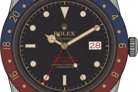 Rolex GMT Master 6542 illustration