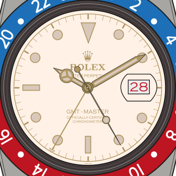 Rolex-GMT-Master-6542-White-Dial-Pan-Am-Ground-Crew