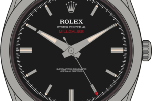 Rolex Milgauss 1019 illustrtaion