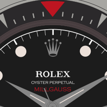 Rolex-Milgauss-6541-Red-Triangle-Bezel