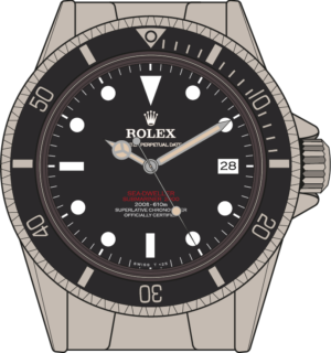 Rolex Sea-Dweller 1665 Double Red Sea-Dweller illustration