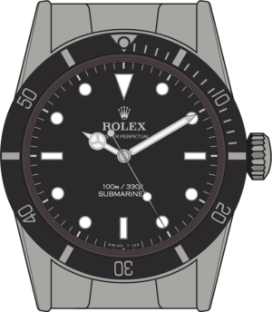 Rolex Submariner 5508 illustration