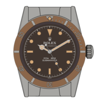 Rolex-Submariner-5510-Tropical-Dial