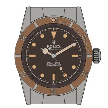 Rolex-Submariner-5510-Tropical-Dial