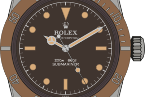 Rolex Submariner 5510 Tropical Dial illustration