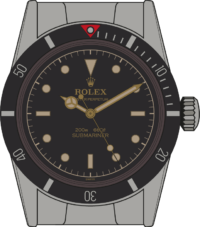 Rolex Submariner 5510 replaced the 6200 in the late 50s