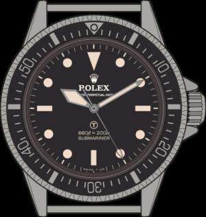 Rolex Submariner 5517 Military edition illustration