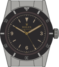 Rolex Submariner 6200 with pencil hands and an Explorer-type face