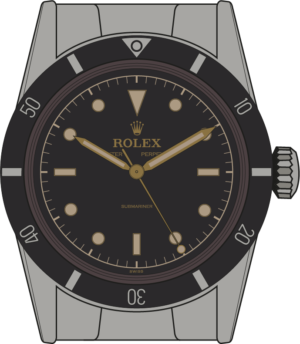 Rolex Submariner 6204 illustration
