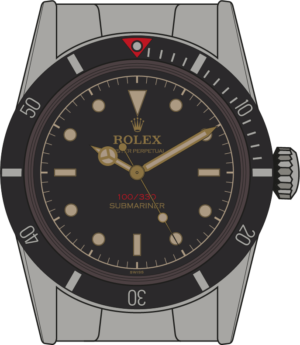 Rolex Submariner 6536 illustration